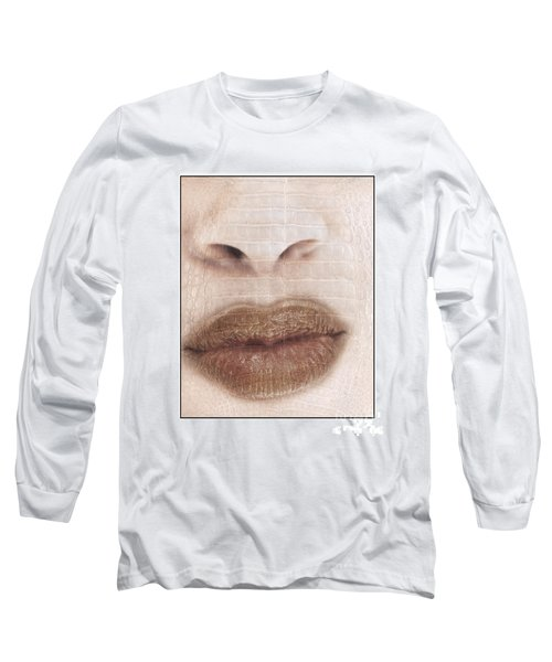 Lips And Nose. Female Long Sleeve T-Shirt by Michael Edwards