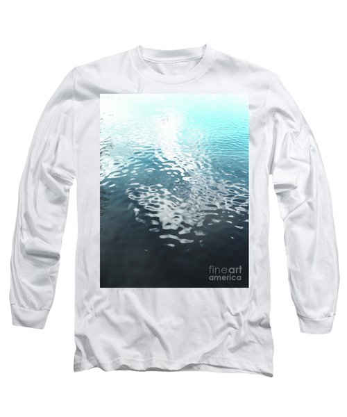 Liquid Blue Long Sleeve T-Shirt by Rebecca Harman
