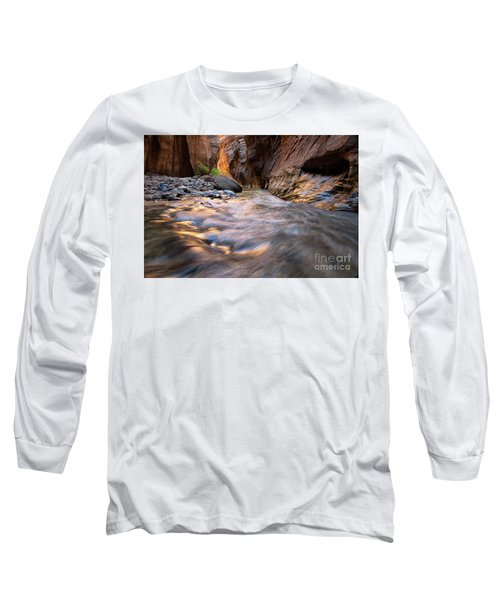 Liquid Gold Utah Adventure Landscape Photography By Kaylyn Franks Long Sleeve T-Shirt