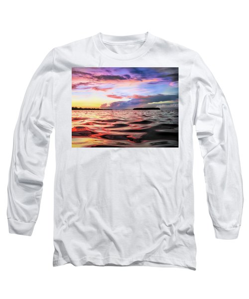 Liquid Red Long Sleeve T-Shirt