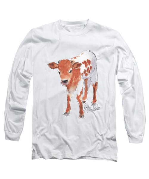 Little Beau April 2017 By Kathleen Mcelwaine Long Sleeve T-Shirt by Kathleen McElwaine