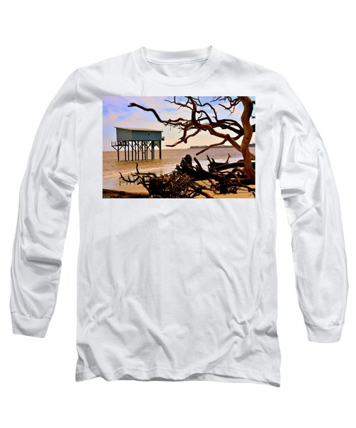Little Blue Hunting Island State Park Beaufort Sc Long Sleeve T-Shirt