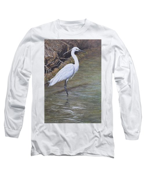 Little Egret Long Sleeve T-Shirt