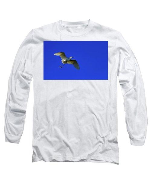 Little Egret, Egretta Garzetta Long Sleeve T-Shirt by Elenarts - Elena Duvernay photo
