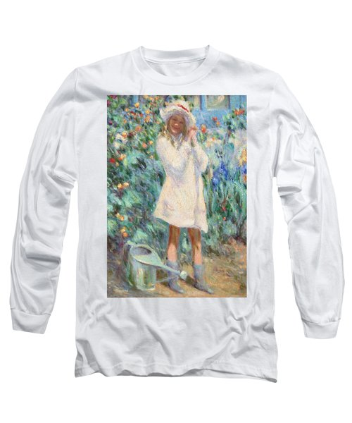 Little Girl With Roses / Detail Long Sleeve T-Shirt