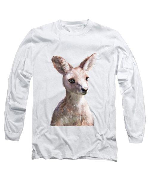 Little Kangaroo Long Sleeve T-Shirt by Amy Hamilton