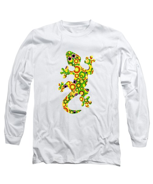 Little Lizard - Animal Art Long Sleeve T-Shirt by Anastasiya Malakhova
