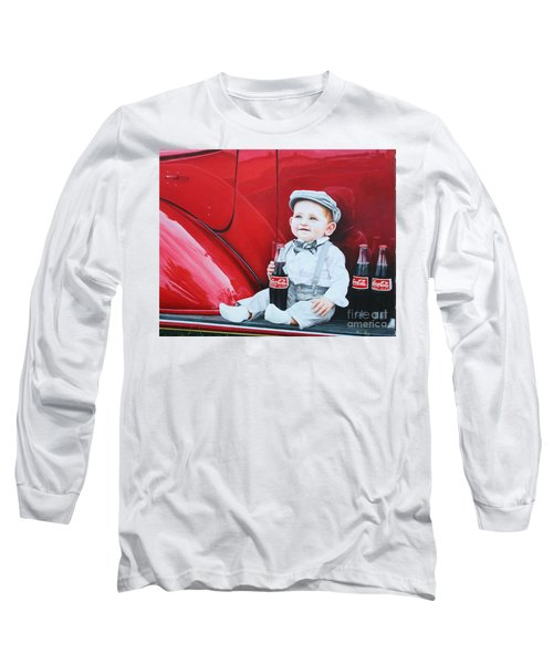 Long Sleeve T-Shirt featuring the painting Little Mason by Mike Ivey
