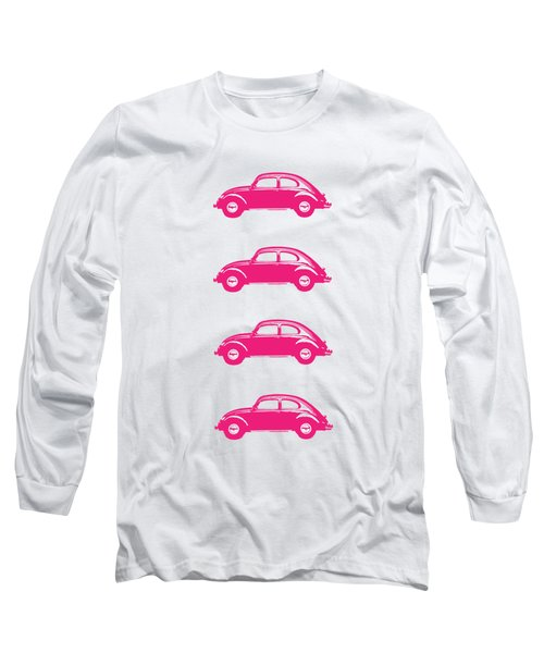 Little Pink Beetles Long Sleeve T-Shirt by Edward Fielding
