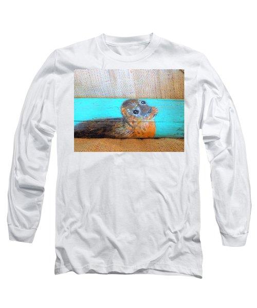 Little Seal Long Sleeve T-Shirt by Ann Michelle Swadener