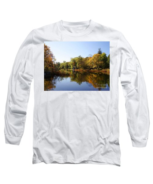 Little Shawme Pond In Sandwich Massachusetts Long Sleeve T-Shirt
