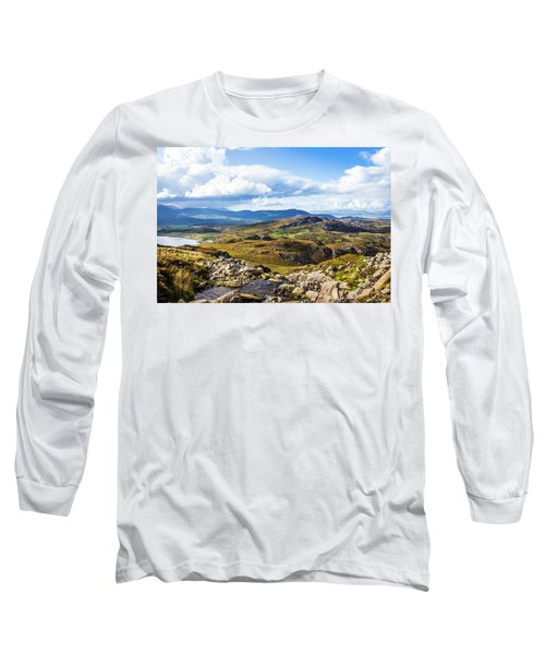 Little Stream Running Down The Macgillycuddy's Reeks Long Sleeve T-Shirt by Semmick Photo