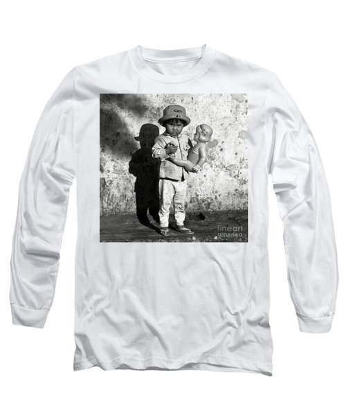 Little Vietnamese Girl Playing With Her Doll Long Sleeve T-Shirt
