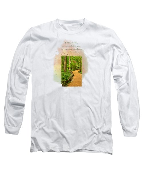 Live In Peace Long Sleeve T-Shirt by Larry Bishop