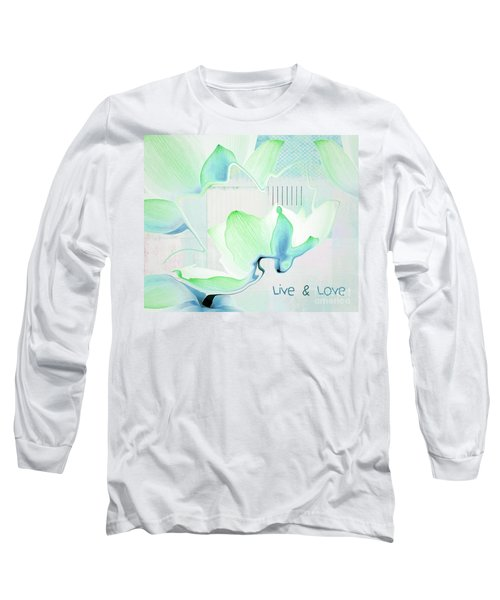 Long Sleeve T-Shirt featuring the photograph Live N Love - Absf15 by Variance Collections