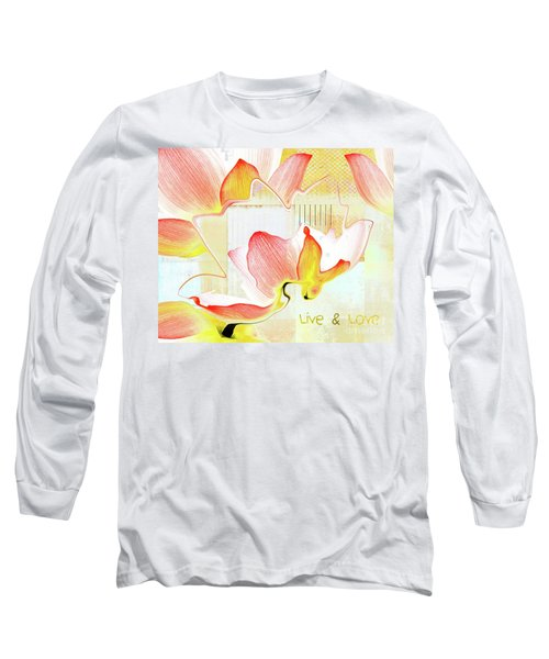 Long Sleeve T-Shirt featuring the photograph Live N Love - Absf44b by Variance Collections