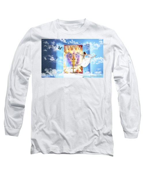 Long Sleeve T-Shirt featuring the digital art Living Word Of God by Dolores Develde