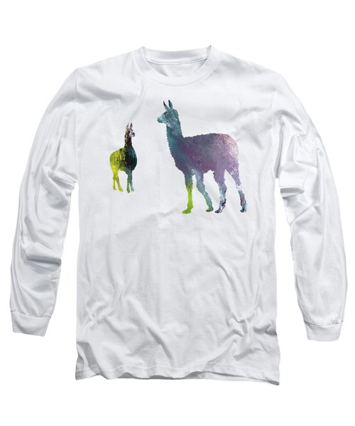 Llama Long Sleeve T-Shirt by Mordax Furittus
