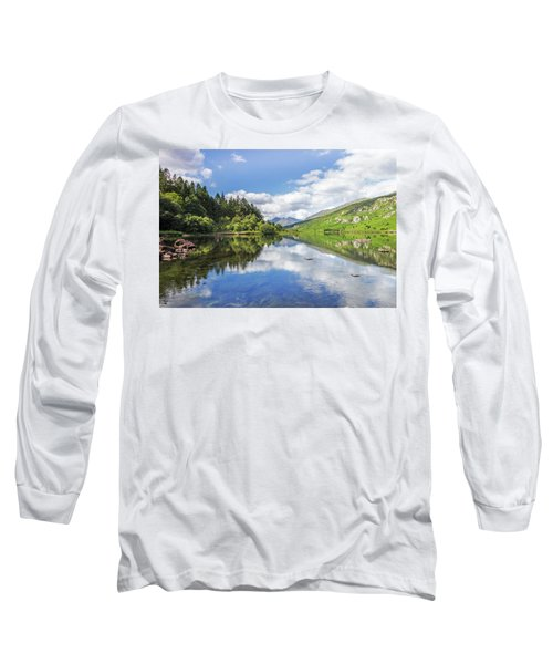 Llyn Mymbyr And Snowdon Long Sleeve T-Shirt by Ian Mitchell