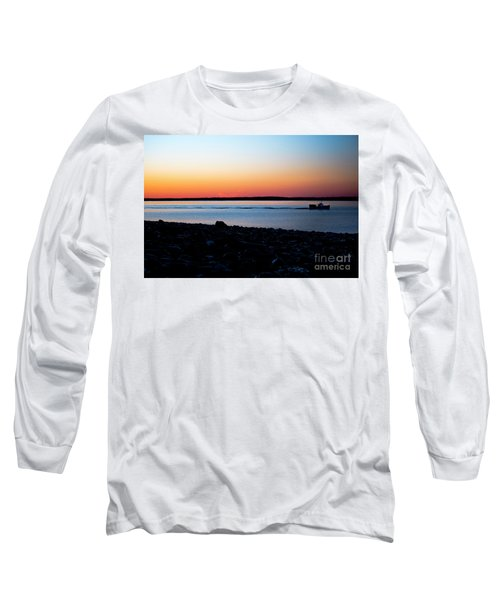 Lobster Boat In Maine Long Sleeve T-Shirt by Diane Diederich