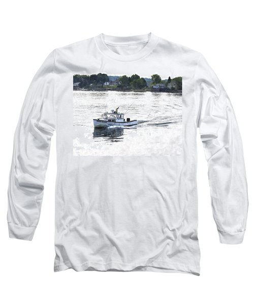 Lobster Boat Lbwc Long Sleeve T-Shirt by Jim Brage