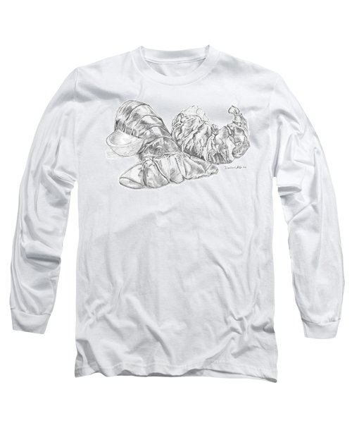 Lobster Shell Drawing Long Sleeve T-Shirt