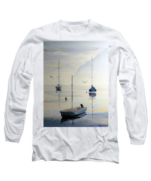 Locarno Boats In February Long Sleeve T-Shirt by David Gilmore