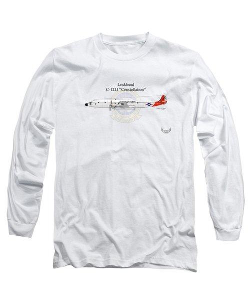 Lockheed C-121j Constellation Long Sleeve T-Shirt by Arthur Eggers