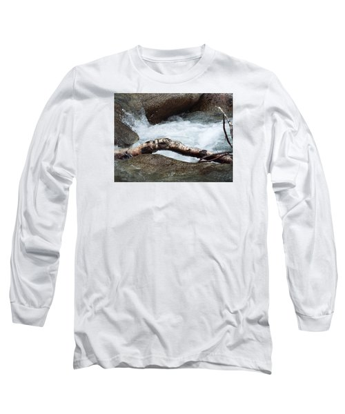Log At White Water Long Sleeve T-Shirt