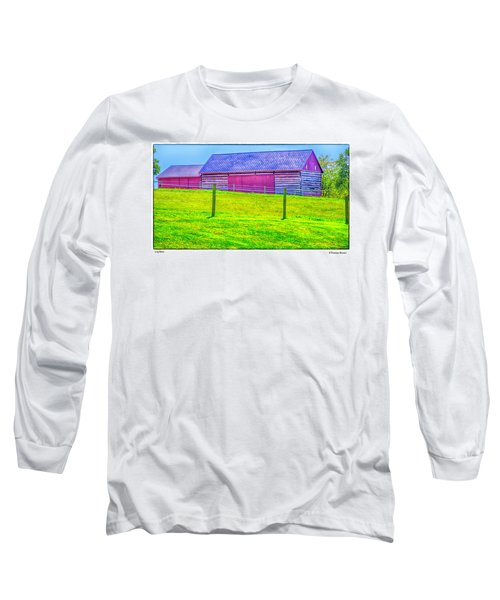 Log Barn Long Sleeve T-Shirt by R Thomas Berner