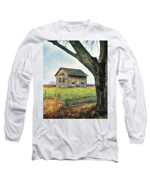 Log Cabin - Paradise Springs - Kettle Moraine State Forest Long Sleeve T-Shirt by Jennifer Rondinelli Reilly - Fine Art Photography