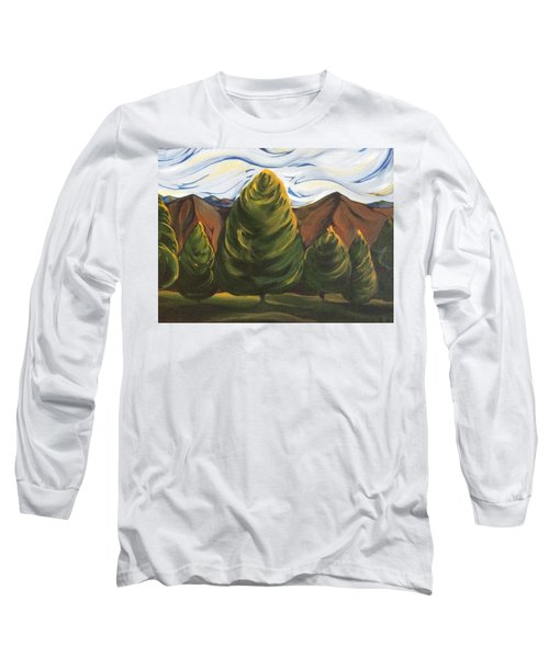 Lollipop Trees Long Sleeve T-Shirt by Pat Purdy