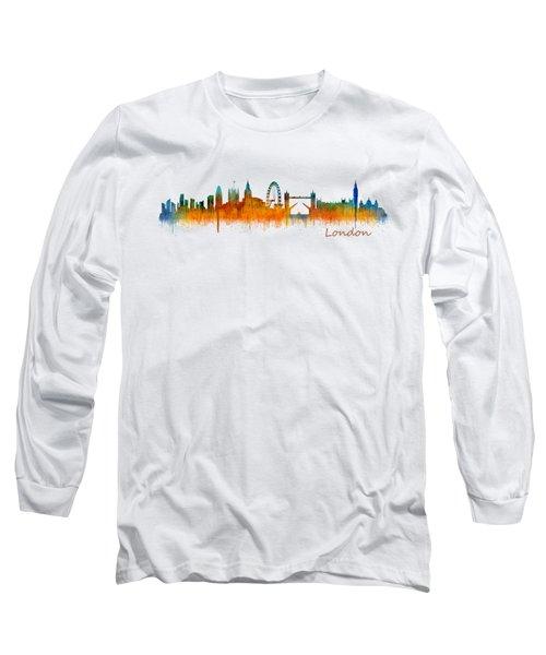 London City Skyline Hq V2 Long Sleeve T-Shirt by HQ Photo
