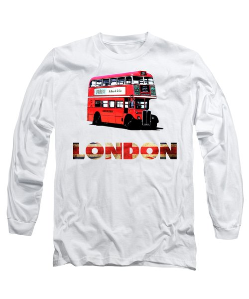 London Red Double Decker Bus Tee Long Sleeve T-Shirt
