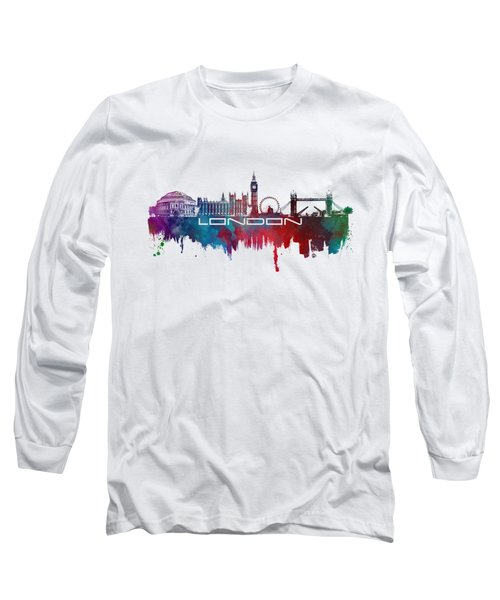 London Skyline City Blue Long Sleeve T-Shirt