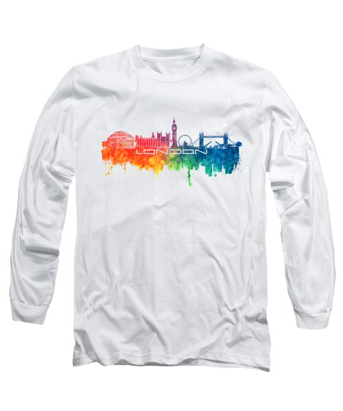 London Skyline City Color Long Sleeve T-Shirt