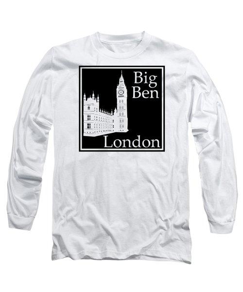 London's Big Ben In Black Long Sleeve T-Shirt by Custom Home Fashions