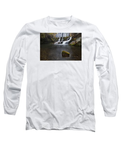 Lone Rock At The Falls Long Sleeve T-Shirt
