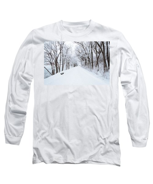 Lonely Snowy Road Long Sleeve T-Shirt