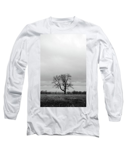 Lonely Tree In A Spring Field Long Sleeve T-Shirt by GoodMood Art