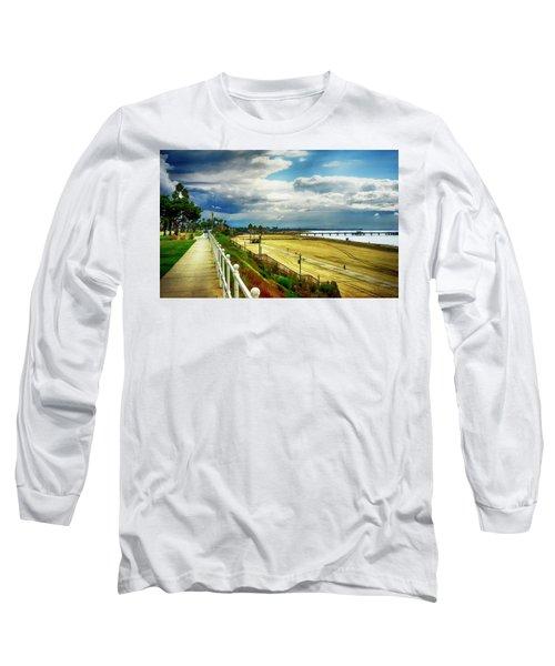 Long Sleeve T-Shirt featuring the photograph Long Beach Bluff Park by Joseph Hollingsworth
