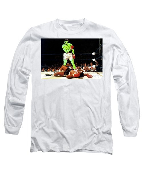 Long Sleeve T-Shirt featuring the painting Long Live Ali by Chief Hachibi