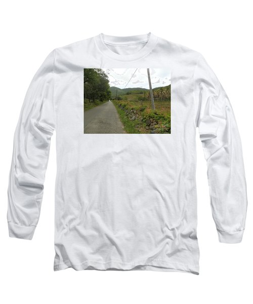 Long Road Into Colombier Long Sleeve T-Shirt by Margaret Brooks