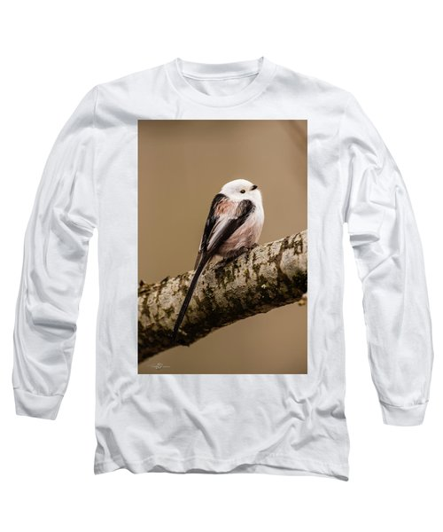 Long-tailed Tit On The Oak Branch Long Sleeve T-Shirt