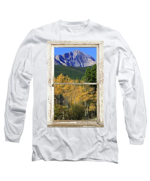 Longs Peak Window View Long Sleeve T-Shirt