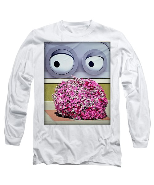 Look At Those Flowers Long Sleeve T-Shirt by AJ Schibig
