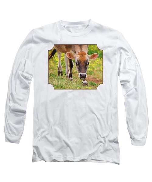 Look Into My Eyes - Painterly Long Sleeve T-Shirt by Gill Billington