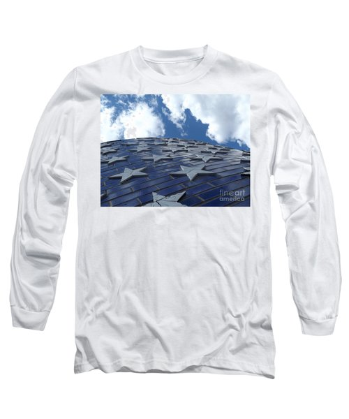 Lookig Up At The Stars And Blue Sky Long Sleeve T-Shirt by Erick Schmidt