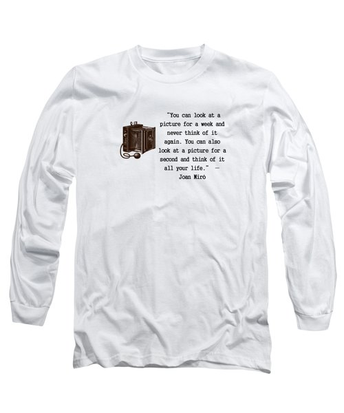 Looking At A Picture Long Sleeve T-Shirt by Pat Cook