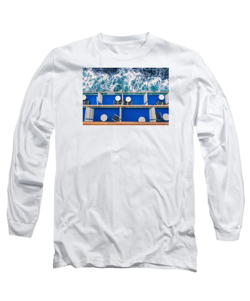 Looking Down At Sea Long Sleeve T-Shirt by Lewis Mann